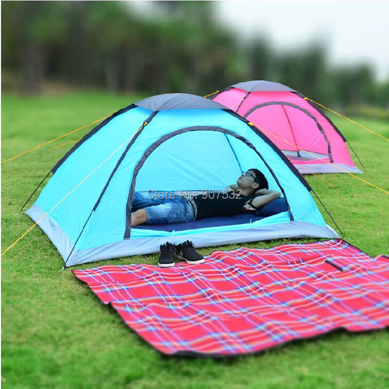 Lovely Tent Outdoor 2 Person Single Camping Tent Ultra Light Portable Lightweight Cute  Tents 2 Person Pink Blue Colors In Tents From Sports U0026 Entertainment On ...
