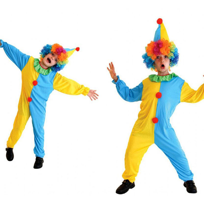 New Kids Clown Cosplay Costume For Boy Halloween Costume For kids Children Cosplay Costume Christmas Party Carnaval Costume