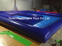 Cheap factory price above ground pool adult swimming poolswimming inflatable pool water aqua pool water tank 10X10X0.65M