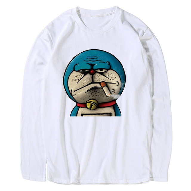 4c410207 Mens Fashion Cool Bape Lol Printed Tshirt Streetwear Harajuku Funny Men T- Shirt Anime Off Long Sleeve White T Shirt Tops JTL40