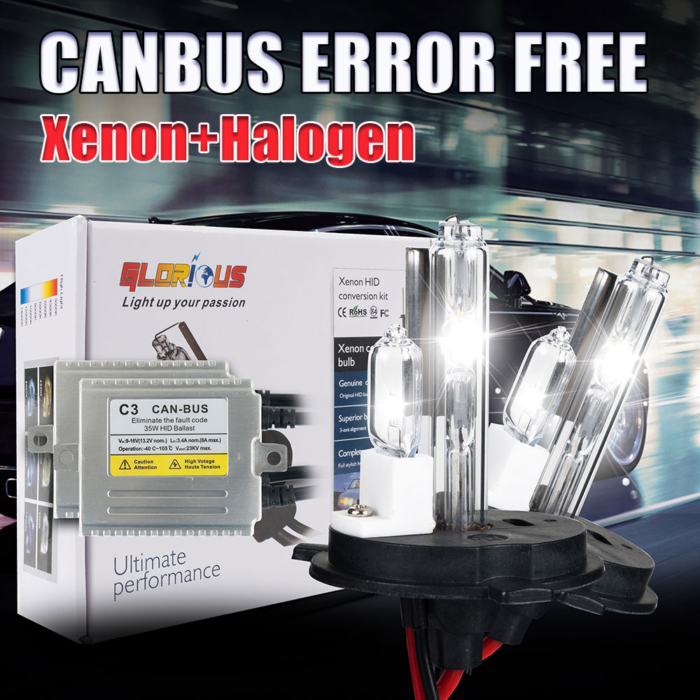 ФОТО H4 XENON kit  H4-2 One Xenon One Halogen Double Lamps Hid Xenon H4 Price On Sale 4300k 5000k 6000k 8000k
