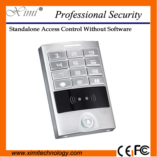 Touch panel access controller  waterproof standalone without software M09B rfid card reader single door access control metal rfid em card reader ip68 waterproof metal standalone door lock access control system with keypad 2000 card users capacity