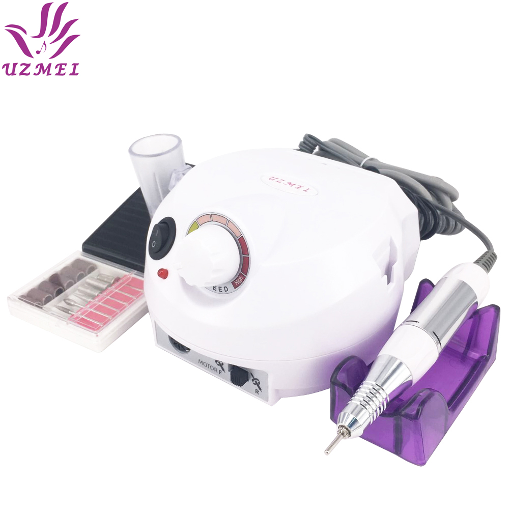 White Electric Nail Manicure File Manicure Kit 220V Eu Plug Nail Tools for Nail Gel