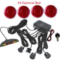 new arrival auto parking sensor backup radar alert alarm 4 sensors 12V 44 colors for option car accessory buzzer