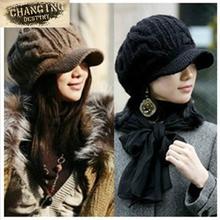 2017 New Autumn Winter Women s wool hat knitted cap Female Crochet Beanies Warm fashion Hats