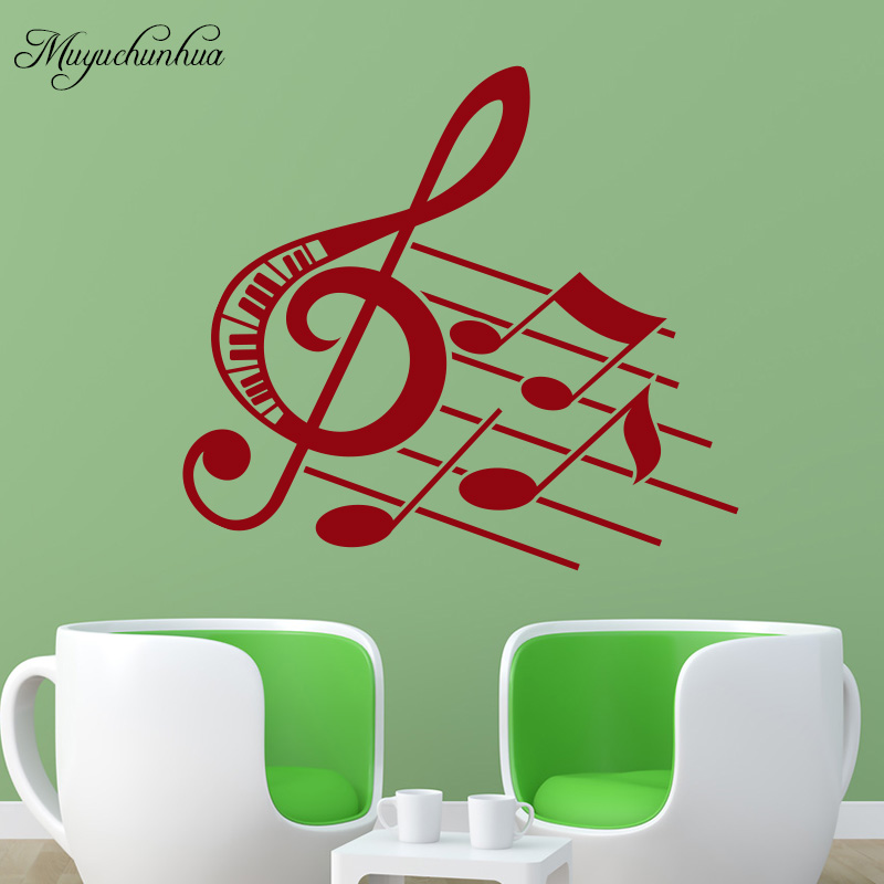 Muyuchunhua Music Note Wall Sticker for Living Room Bedroom ...