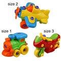 3 Tipos de Plástico Bebé Coche Camión Plano de Montaje Desmontaje Juguete Coches Clásicos Juguetes de Los Niños Regalos