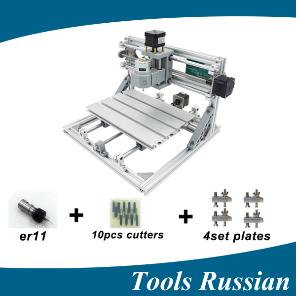 Only Russia !CNC 2418 ER11,diy mini cnc laser engraving machine,Pcb Milling Machine,Wood Carving machine,cnc router,cnc2418,toys eur free tax cnc 6040z frame of engraving and milling machine for diy cnc router