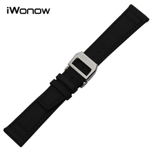 Nylon & Genuine Leather Watchband for Pilot Portugieser Portofino Watch Band Steel Buckle Wrist Strap Black Green 20mm 21mm 22mm