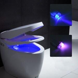 Image 3 - Smart Badkamer Wc Nachtlampje LED Body Motion Activated Aan/Off Seat Sensor Lamp 8 multicolour Wc lamp hot
