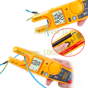 Image 2 - Fluke T6 1000 valores eficaces auténticos de CA sin contacto voltaje/medidor de pinza de corriente con Hz, prueba de resistencia