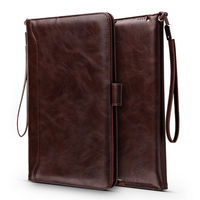 For iPad Pro 9.7 Leather Case Flip Stents Dormancy Business Hand Ultra Soft PU Stand Cover Card Slot Case Compatible