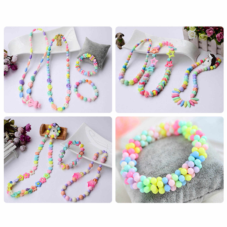 24 Grid Plastik Perhiasan Diy Beads Set Kit untuk Pendidikan Anak-anak Buatan Tangan Mainan Anak Gelang Kalung Rambut Hoop Membuat hadiah Mainan