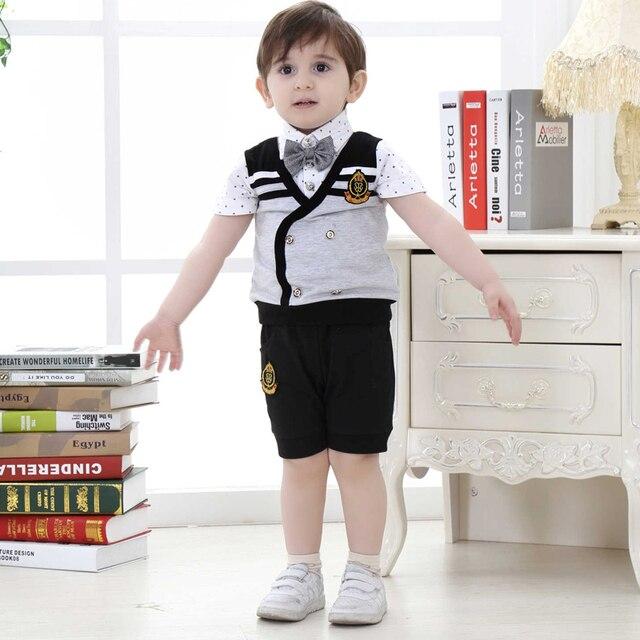 6ac84081b baby boy sets 2018 toddler boys summer wedding clothes sets for children  porm kids gentleman suit ...