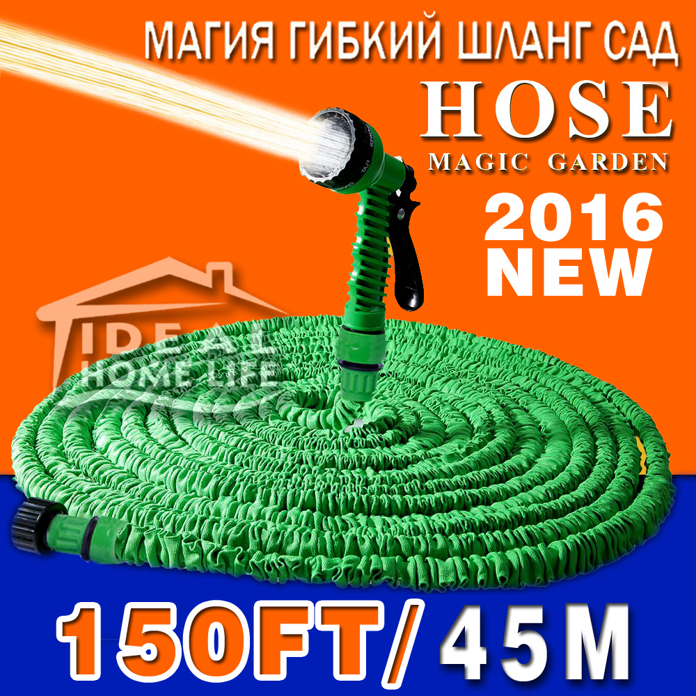 2016 Hot Selling 100FT Expandable Magic Flexible Garden Hose For Car Water Pipe Plastic Hoses To