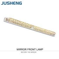 Jusheng современные линейные Ванная комната LED свет зеркала AC220V теплый белый/холодный белый Светодиодный Настенные светильники в туалете