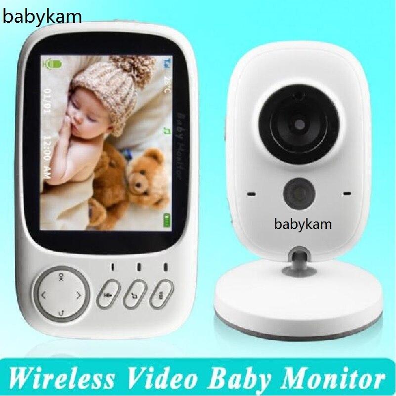 Babykam Baby Monitors video nanny 3.2 inch Temperature monitor IR Night vision Intercom Lullabies baba electronics baby monitors