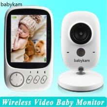 Babykam Baby Monitors video nanny 3.2 inch Temperature monitor IR Night vision Intercom Lullabies baba electronics baby monitors