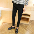 2016 autumn men pants and men's fit casual pants fashion straight suit pants skinny smooth trousers