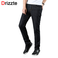 Drizzte Mens Stretch Spandex Fashion Jeans Slim Fit Black Denim Jeans Man Male Trousers Pants Size 28 40