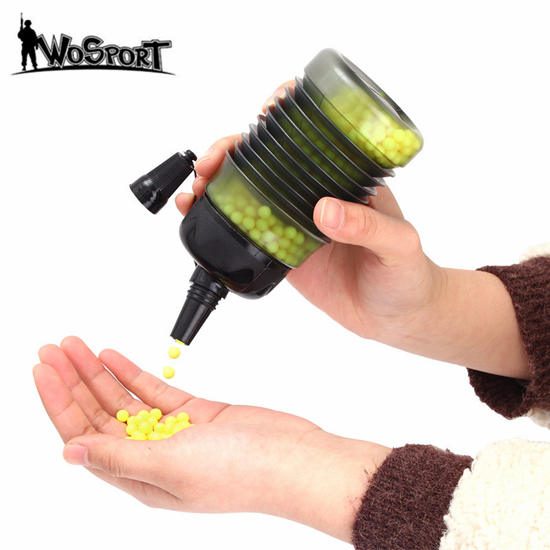 Tactical 2300 Rounds Airsoft Speed BB Loader Expandable Bottle Military Airsoft Shooting BB Balls Equipment Paintball Accessory-in Paintball Accessories from Sports & Entertainment