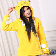 Fashion Flannel Hoodies Cute Kokkuri-san Cosplay Pullover Fleece Sweatshirts Winter Pajamas For Women Girls