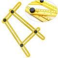 Nuevo instrumento de medición de anchura-Regla plantilla herramienta regla de cuatro lados mecanismo diapositivas medidores de espesor
