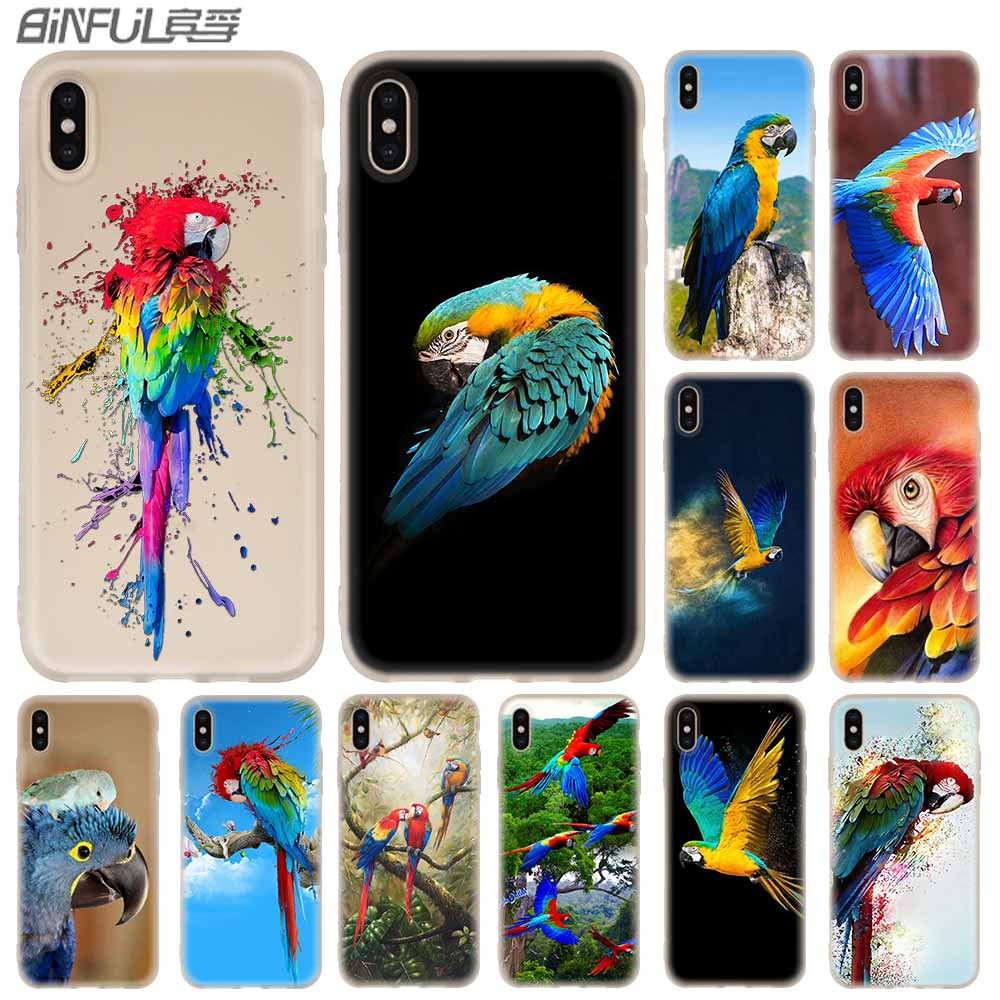 Blue Ringneck Parrot Art <font><b>Baseus</b></font> Clear Cover Case Silicone soft for <font><b>iPhone</b></font> X 11 Pro XS Max XR <font><b>6</b></font> 7 8 Plus 5 12 S Phone Cases image