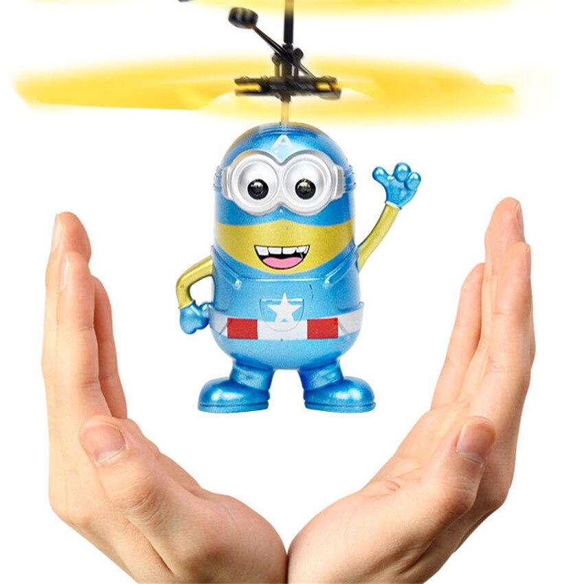 RC Bola de vuelo luminosa chico vuelo bolas electrónica de infrarrojos de inducción aviones juguetes de Control remoto luz LED Mini helicóptero