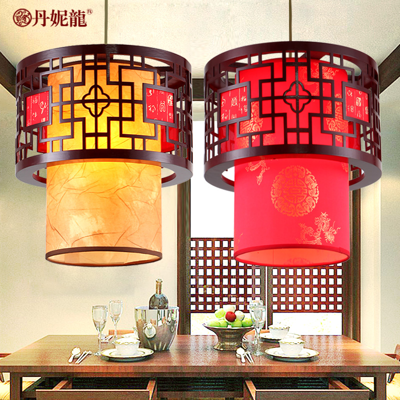 Chinese Style Pendant Lamp Wood Carving Antique Sheepskin Lanterns Droplight Dining-room Study Corridor chinese style wooden pendant lights solid wood living room dining room pendant lamp creative bedroom study corridor hallway zs37