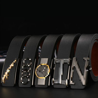 Fashion and Leisure Car Standard Belt Man Automatic Buckle Real Leather Belt Leather Business Belt BH 001