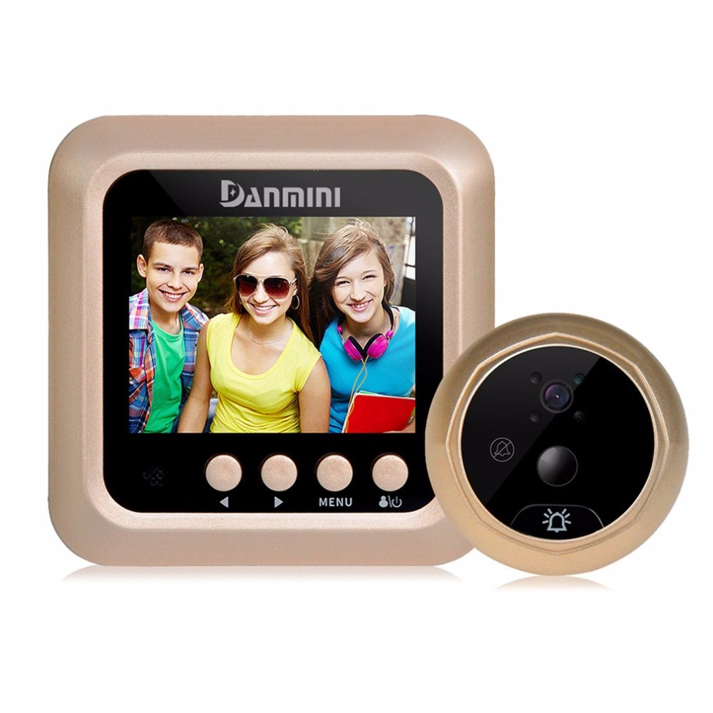 Danmini Q5 2.4 Inch TFT Color Screen Display Night Vision Camera Video Peephole Camera Visual Doorbell No Disturb Viewer original danmini 3 0 tft lcd color screen door peephole viewer ir led night vision light doorbell 145 degrees view angle system