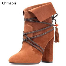 Hot Sale 2016 Autumn Spring knee-High Cow Leather Short Boots Thigh high boots woman winter motorcycle sexy Long boots