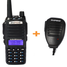 BaoFeng UV-82 Dual Band Transceiver Two Way Radio Walkie Talkie Interphone communicador 2800mAh Li-ion + handlheld microphone