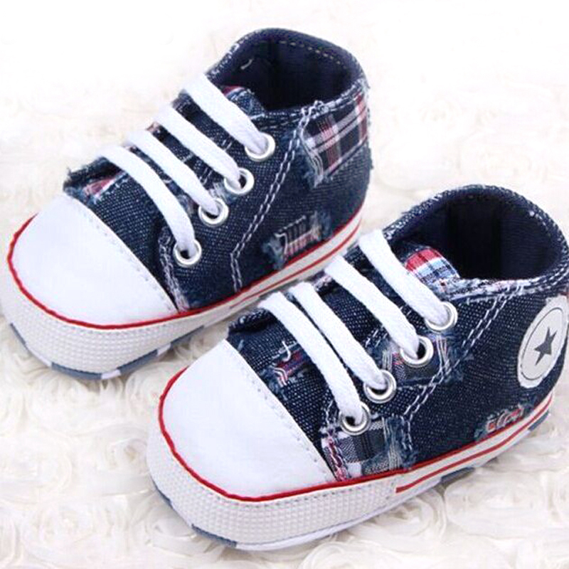 Hot Baby Shoes Brand New Kids sneakers Prewalker Boys Toddlers Newborn First Walkers Star Brand Canvas bebe boys Shoes