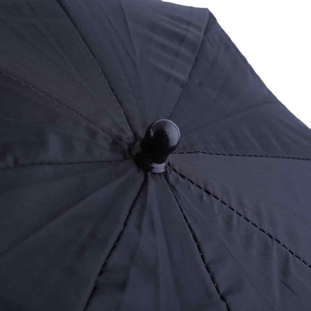 Przenośny 83cm 33 cal Studio błyskające wideo światła drobnoziarnisty parasol odblaskowe odblaskowe czarny srebrny fotografia fotografia parasole