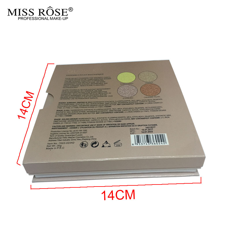 MISS ROSE GLEAM & GOLDEN kit Chocolate illuminator Contour Kit Birthday Edition Face Bronzer&Highlighter Contour Makeup Palette2