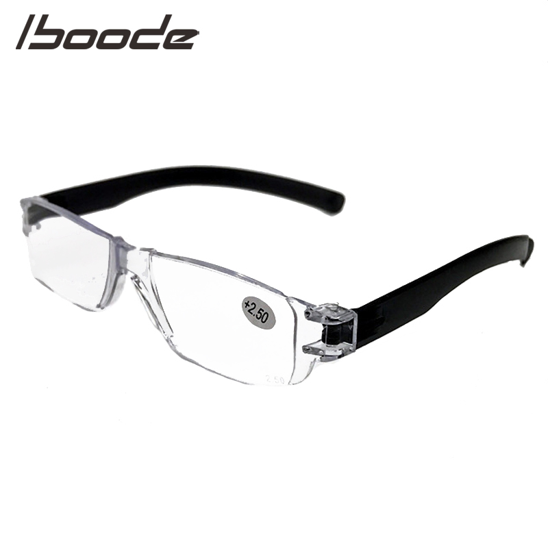 IBOODE Square Frameless Reading Glasses Women Men Rimless Presbyopic Eyeglasses Female Male Hyperopia Eyewear Optics Spectacles