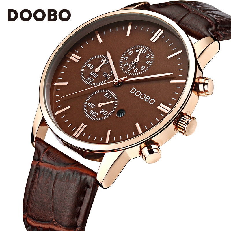 Mens Watches Brand Luxury Casual Military Quartz Sports Wristwatch Leather Strap Male Clock watch saat relogio masculino DOOBO 2017 oukeshi brand men sports watches luxury leather military watch male quartz wristwatch relogio masculino oks11
