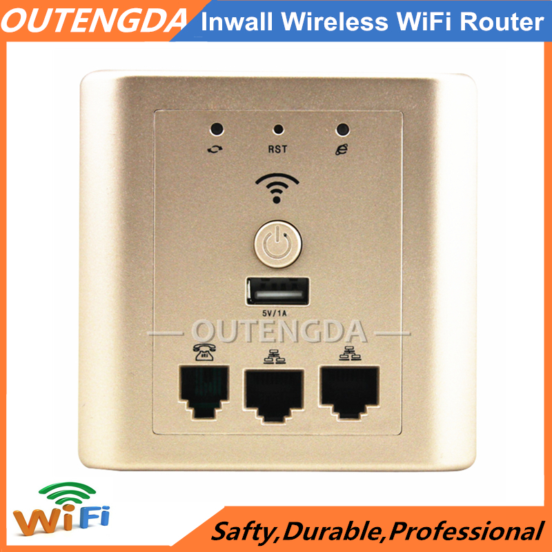 OUTENGDA 802.11n 150Mbps Wall-mount Wireless WiFi Repeater Router for Hotel Rooms Embedded in Wall AP Access Point