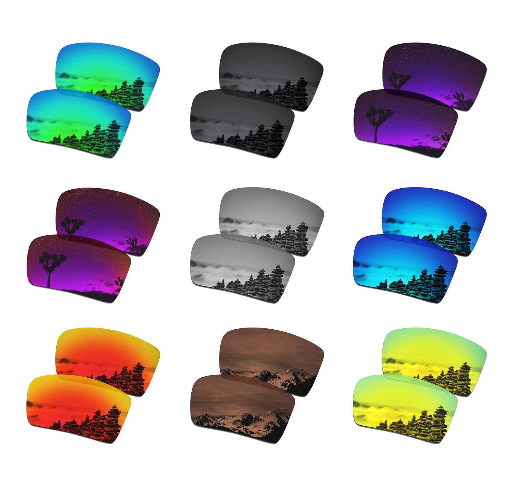 SmartVLT Polarized Replacement Lenses For Oakley Eyepatch 2 Sunglasses - Multiple Options