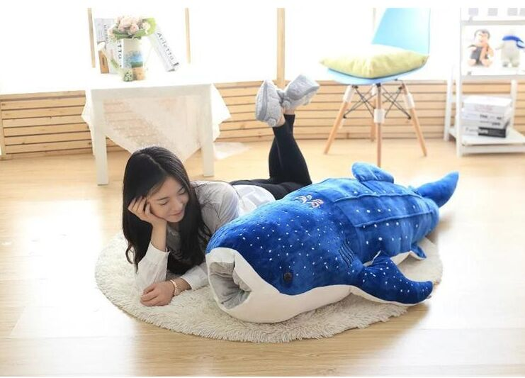 huge 150cm dark blue cartoon whale soft plush toy throw pillow Christmas gift b0858 lovely giant panda about 70cm plush toy t shirt dress panda doll soft throw pillow christmas birthday gift x023