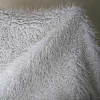 Sold By The Yard Free Shipping White Beach Wool Plush Fur Coat Carpet Background Cloth