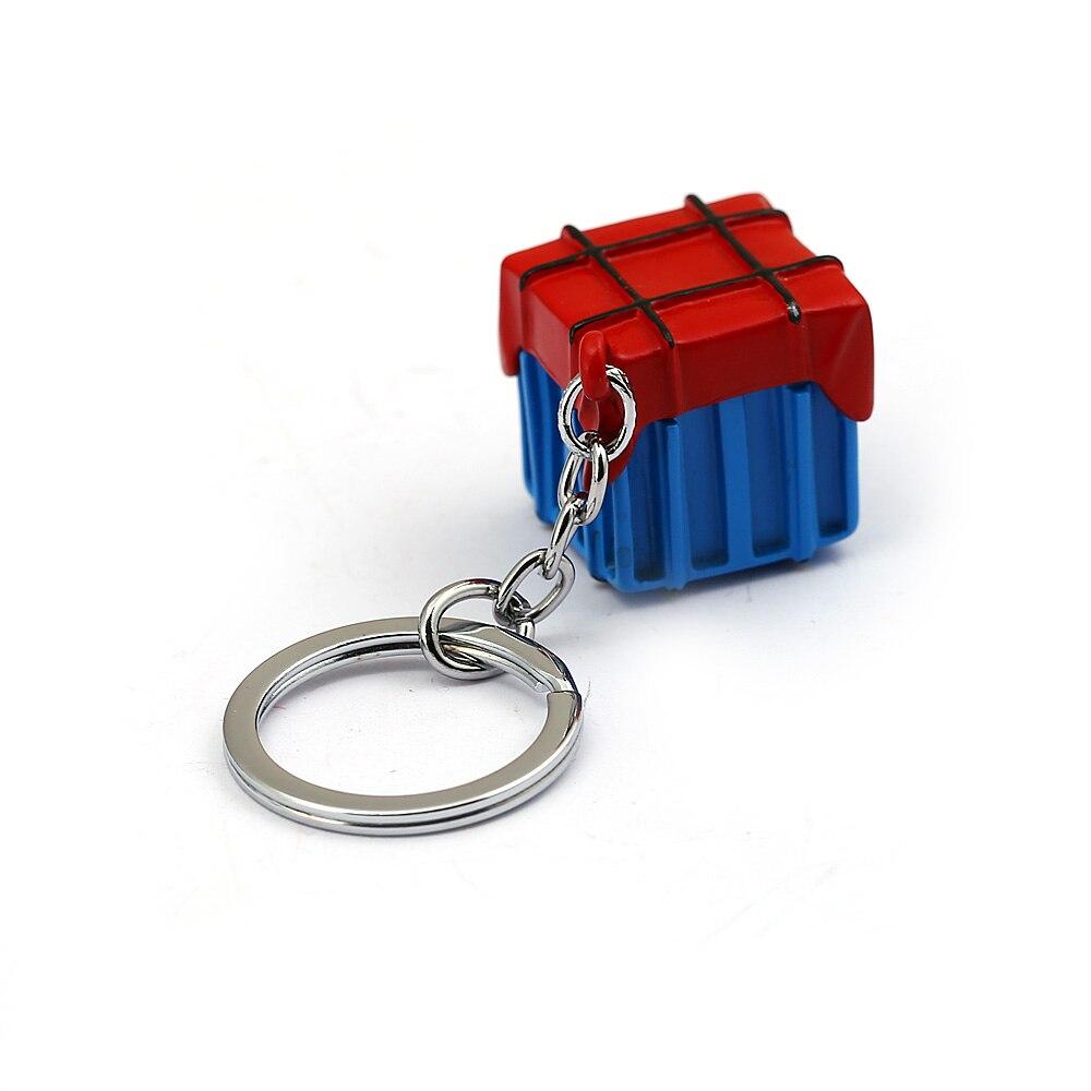 Battleground Keychain PUBG  Air Drop Supply Crate Model Metal Pendants Metal Keyring Metal Chaveiro Accessory