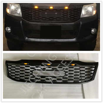 AUTO EXTERIOR PART MODIFIED FRONT ABS MESH MASK TRIMS COVER RACING GRILLE GRILLS FIT FOR HILUX VIGO 2012-2014 GRILL PICKUP CAR - DISCOUNT ITEM  24% OFF All Category