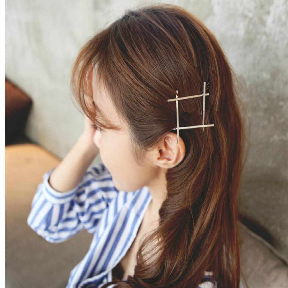 2019 Fashion Hair Clip for Women Elegant Design Triangular Moon Lip Round Barrette Stick Hairpin Hair Pins Head Accessories