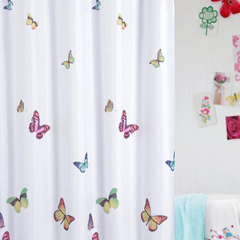 New Fashion Cute Butterflies Pattern Bath Curtain Waterproof Mildew Proof Shower Curtain China