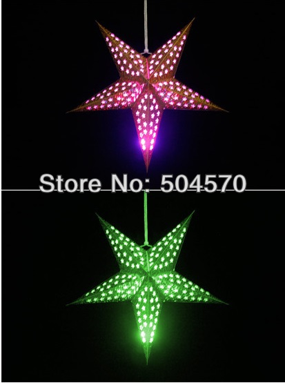 4pcs / Lot 30-60cm LED 스타 핸들 손전등 램프 레이저 - 휴일 파티 용품 - 사진 2