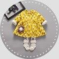 2016 new spring autumn days thickening velvet dress girl dress princess dress cotton children's dress 1-3 years free shipping
