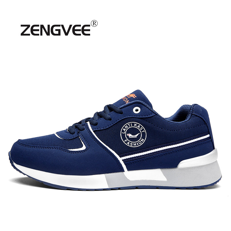 ZENGVEE Hot Sale Men Casual Shoes Outdoor Sneaker Spring Autumn Air Mesh Breathable Patchwork PU High Quality Super Cheap Shoes men shoes summer breathable lace up mesh casual shoes light comfort sport outdoor men flats cheap sale high quality krasovki